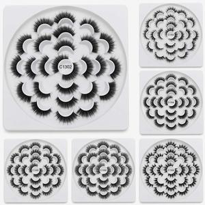 Image 4 - SEXYSHEEP 8/13 זוגות פו 3D מינק ריסים טבעי ארוכים נפח מזויפים איפור הארכת ריסים maquiagem