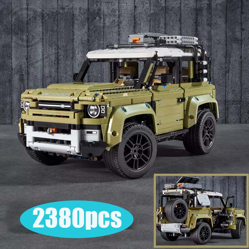 Compatible lepining Technic Car Series Supercar Land Rover Guardian Off-road Vehicle Model Building Blocks Bricks 42110 Toys