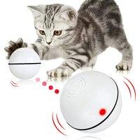 Bola giratoria electrónica interactiva para gato y mascota, juguete automático con luz, juego para gato y mascota, con USB, Gato elegante