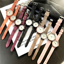 1 Pcs Lovers Simple Style Quartz Watches Frosted PU Leather
