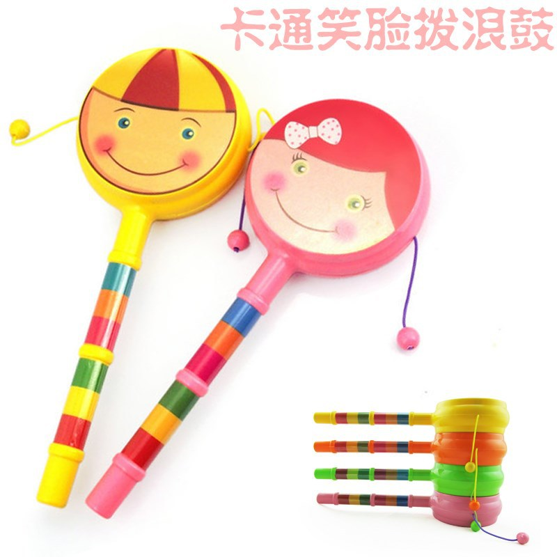 Plastic 0-6-12 Month Rattle Children'S Educational Infant Cartoon Smiley 1-3 Years Old Men And Women 10 Yuan Card