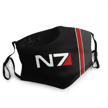 N7 Mass Effect Emblem Reusable Face Mask Commander Shepard Anti Haze Dust Protection Cover Respirator Mouth Muffl image