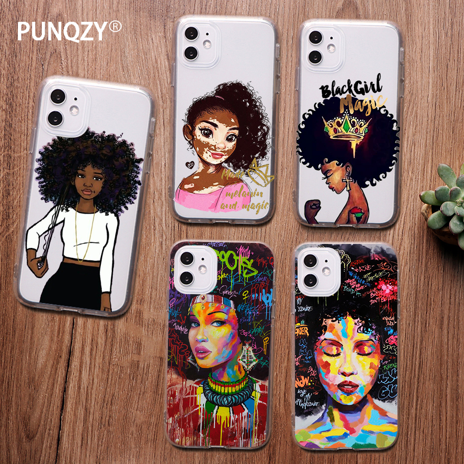 Melanin Magic African Black Girl Hair Art Case For Iphone 11 Pro