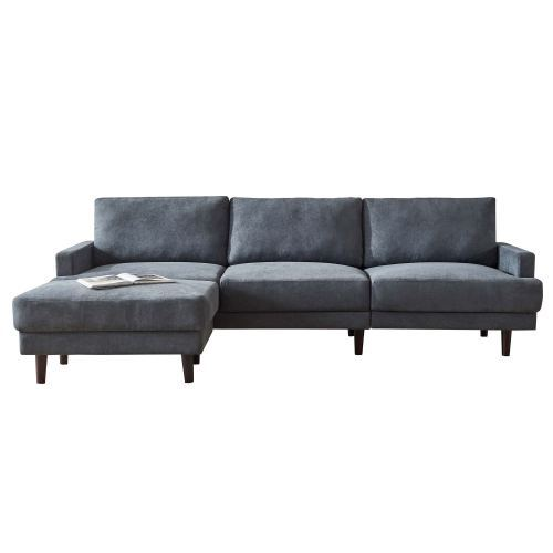 Modern fabric sofa L shape, 3 seater with ottoman-104 6