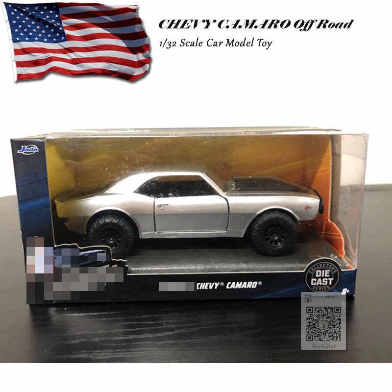 Zada 1/32, CAMARO todoterreno, juguete de modelo de coche de Metal fundido a escala CHEVY, para regalo, niños, colección