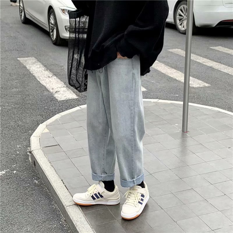 Retro Jeans Baggy Korean Style Jeans For Men
