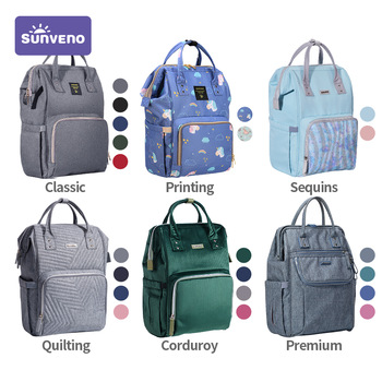 Sunveno Fashion Diaper Bag Backpack Baby Bags for Mom Designer Travel Organizer Stroller Nappy Maternity Changing - discount item  36% OFF Activity & Gear