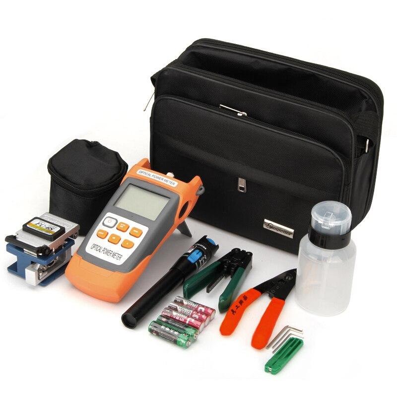 Kits d'outils FTTH, compteur de puissance optique, couperet de Fiber optique, décapant optique de Fiber de CFS-2, testeur visuel rouge de localisateur de défaut de Laser