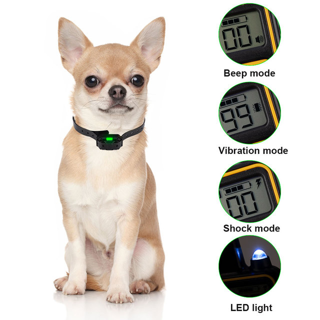 800m Electric Dog Training Collar Pet Remote Control Waterproof Rechargeable with LCD Display for All Size Shock Vibration Sound- 5