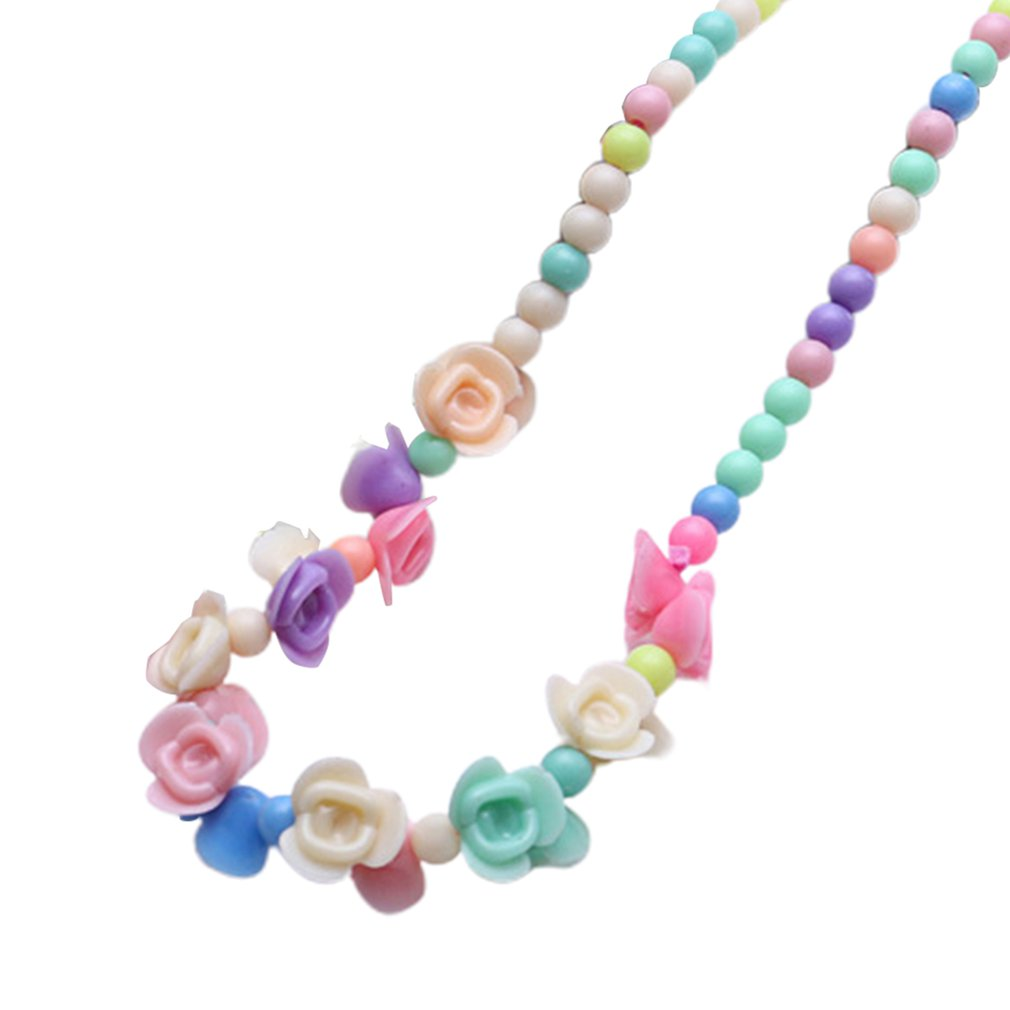 Корейское детское ожерелье, цветное ожерелье, цветные маленькие ювелирные изделия для детей, креативные подарки