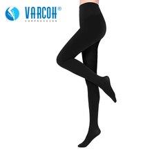 Meias de compressão médica unissex, meias opacas masculinas, melhor suporte 30 40 mmhg meia calça para varizes, viagem, vôo, dedo do pé fechado