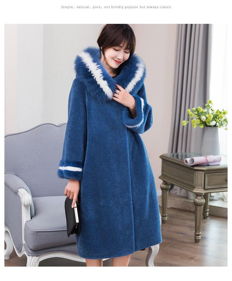raposa ovelha shearling outerwear das mulheres 18052 wyq1874
