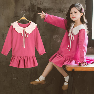 Image 4 - Trẻ Em Bé Gái Tay Dài Mùa Xuân 2020 Búp Bê Đáng Yêu Cổ Áo Váy Đầm Cho Bé Tập Đi Cho Bé Thời Trang Trẻ Em Quần Áo 3 6 8 10 12 Năm