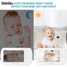 WakeView 2.0MP 1080P Baby Monitor Wireless Video 4.3 inch 2 Way Talk Baby Camera Night Vision Temperature Monitoring HD IR LED