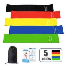 5PCS Resistance Bands Set Elastic Band For Fitness Natural Emulsion String Sport Yoga Exercise Gym Rubber Workout