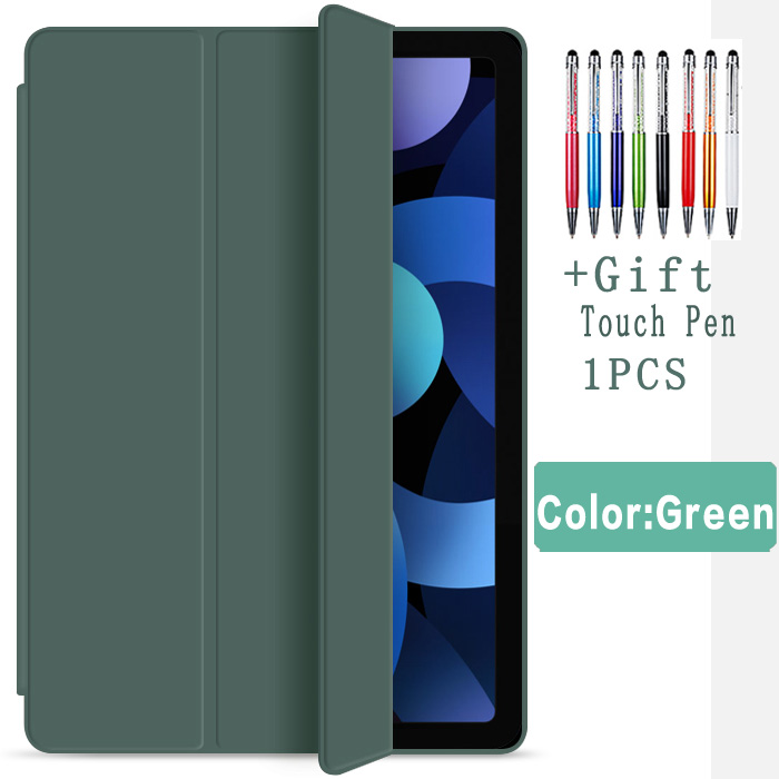 Dark green Red Flip Case For iPad Air 4 10 9 2020 Silicone Cover For iPad Air 4th generation