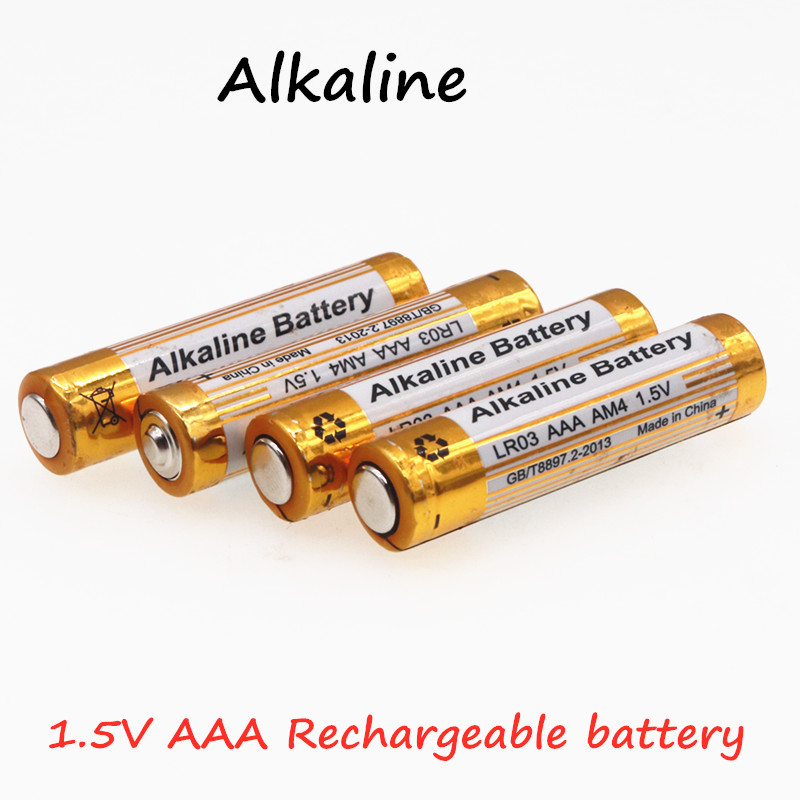 New 4pcs/lot Brand AAA Battery 3000mah 1.5V Alkaline rechargeable battery for Remote Control Toy light Batery free shipping