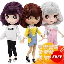 Buzlu DBS blyth doll 1/6 oyuncak BJD ortak vücut özel teklif düşük fiyat DIY kız hediye, 30cm çıplak bebek rastgele gözler renkler