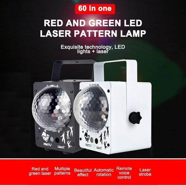 Neueste 2019 DJ Laser RGB Bühne Licht Projektor LED Wirkung Lampe Disco Weihnachten Urlaub Bar Beleuchtung Party Indoor Lampe Fernbedienung
