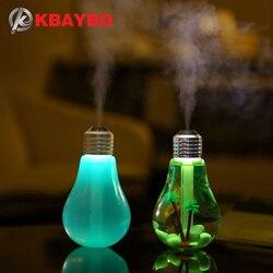 Kbaybo usb umidificador ultra sônico casa escritório mini difusor de aroma luz da noite led aromaterapia névoa maker garrafa criativa lâmpada