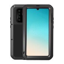 Giáp Kim Loại Ốp Lưng Cho Huawei P30 Pro P40 Lite Chống Sốc Chống Bụi Toàn Thân Với Gorrila Kính Chắc Chắn Bao Da Huawei P30Pro ốp Lưng