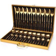 36pcs Silver Dinnerware Set Stainless Steel Cutlery Set Knife Fork Coffee Spoon Tableware Set Upscale Multifunctional Tableware