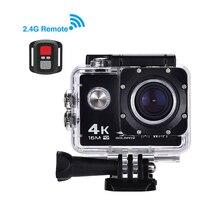 цена на Action Camera Ultra HD 4K WiFi 16MP 2.0 inch Sports Camera 170 Degree Angle Remote Control 30M Waterproof Video Camera