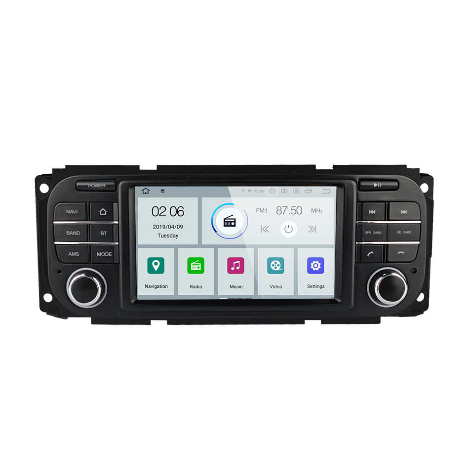Para JEEP Wrangler Compass Patriot Grand Cherokee Commander Dodge car gps Navigation radio Stereo Audio player Multimídia Carplay
