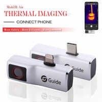 Cámara de imagen térmica mopir Air, videocámara con sensor de temperatura antipeep para Smartphone tipo C Android/IOS