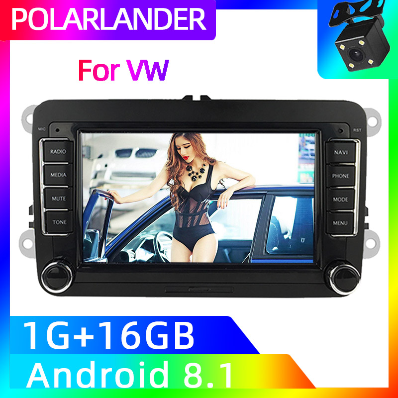 2 Din 7 inch Car Stereo Radio GPS Navigation Wifi MP5 Player For Bora Golf VW Polo Volkswagen Passat B6 B7 Touran Android Auto image