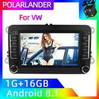 2 Din 7 zoll Auto Stereo Radio GPS Navigation Wifi MP5 Player Für Bora Golf VW Polo Volkswagen Passat B6 b7 Touran Android Auto