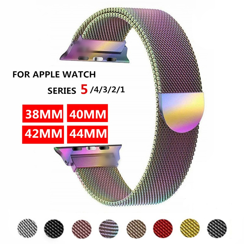 Band For Apple Watch 4 1/2/3 Milanese Loop Stainless Steel 42mm 38mm Bracelet Strap For Iwatch Series 40mm 44mm
