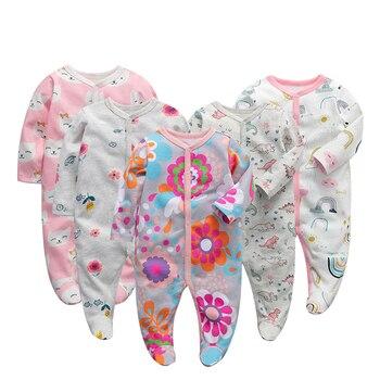 Детские комбинезоны с длинными рукавами; Комбинезоны из 100% хлопка; Одежда для новорожденных; Roupas de bebe; Комбинезон и одежда для мальчиков и де...