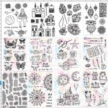 Горячая Распродажа прозрачный силиконовый штамп для DIY скрапбукинга/фотоальбома декоративный прозрачный штамп A0002