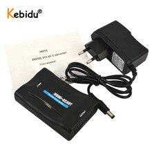 Kebidu 1080P HDMI إلى سكارت فيديو الصوت الراقي محول HD استقبال للهاتف التلفزيون مع قوة داعم محول HDMI 1080p AV