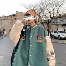 2021 Men's Jacket Tidy Loose Sports Coat Preppy Casual Baseball Wear Jackets