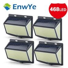 EnwYe 468 LED Solar Light Outdoor Solar Lamp Powered Sunlight Waterproof PIR Motion Sensor Street Light for Garden Decoration
