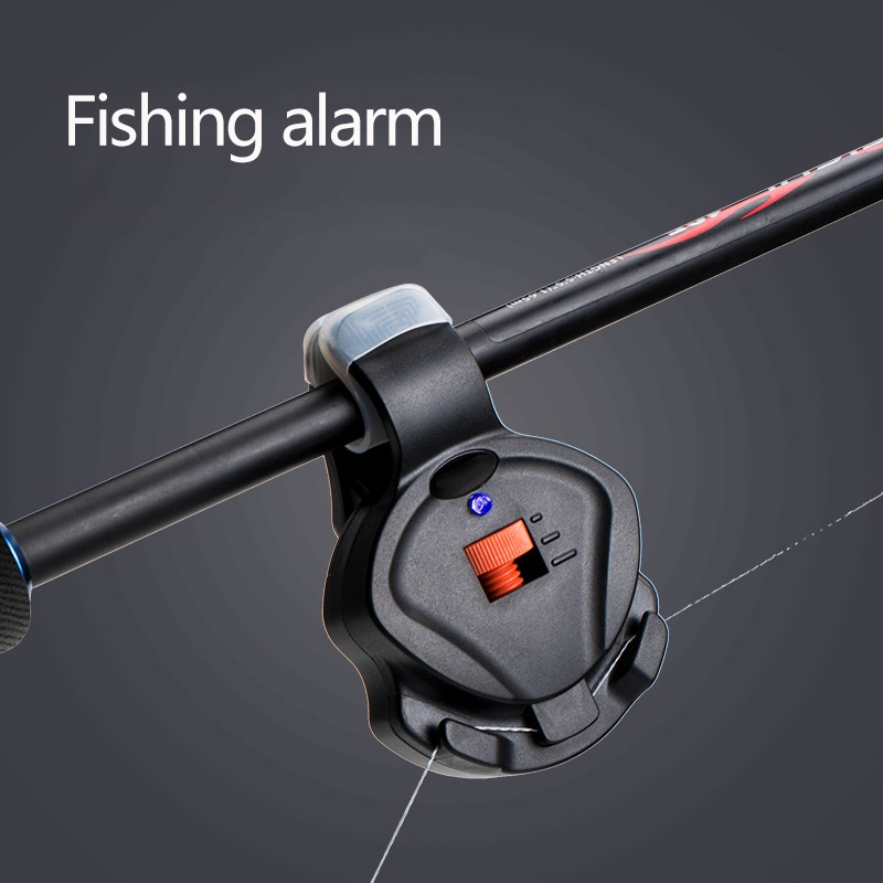 Fishing Electronic Bite Alarm Fish Bite Sound Alarm Bell Adjustable Volume Clip On Fishing Rod Fishing Tackle Accessories