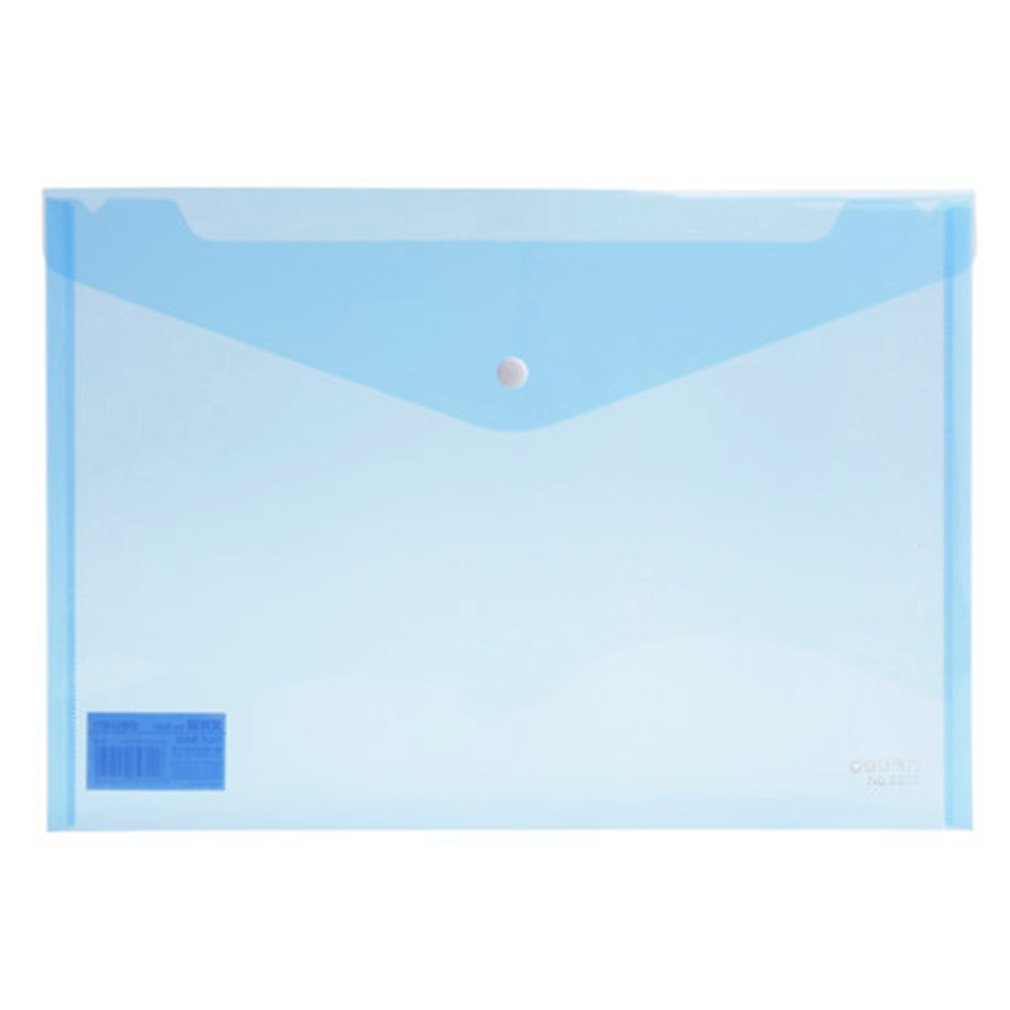Deli 5505 10 Pcs Transparent Plastic Closure Folder Documents Bag A4 File Cover Business And School Filing Products Wholesale