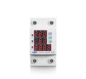Image 2 - 63A 230V 3IN1 Display Din guida regolabile sopra e sotto tensione di protezione dispositivo di protezione relè con protezione da sovracorrente