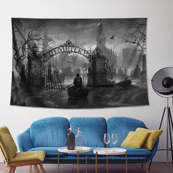 Custom the Sinking City Surrounding the Game Poster Hanging Cloth Background Buke Sulu Wall Cloth Tapestry Decorative Painting image