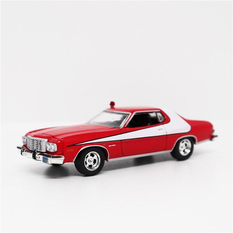 Greenlight 1:64 Ford Gran Torino Red/White Diecast Model Car No Box