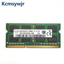 4gb 2rx8 pc3 12800s ddr3 1600 mhz memória do portátil 4g pc3 12800s 1600 mhz módulo portátil sodimm ram