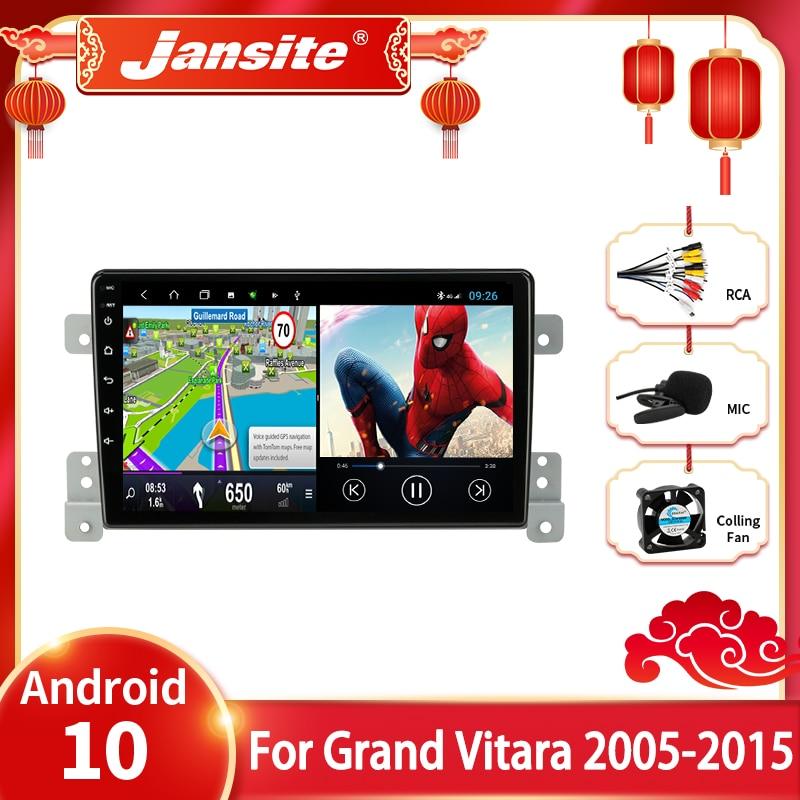 Jansite android 10 rádio do carro para suzuki grand vitara 3 2005 2012 2013 2014 2015 multimídia vídeo player 2din 4 + 64g navigaion gps