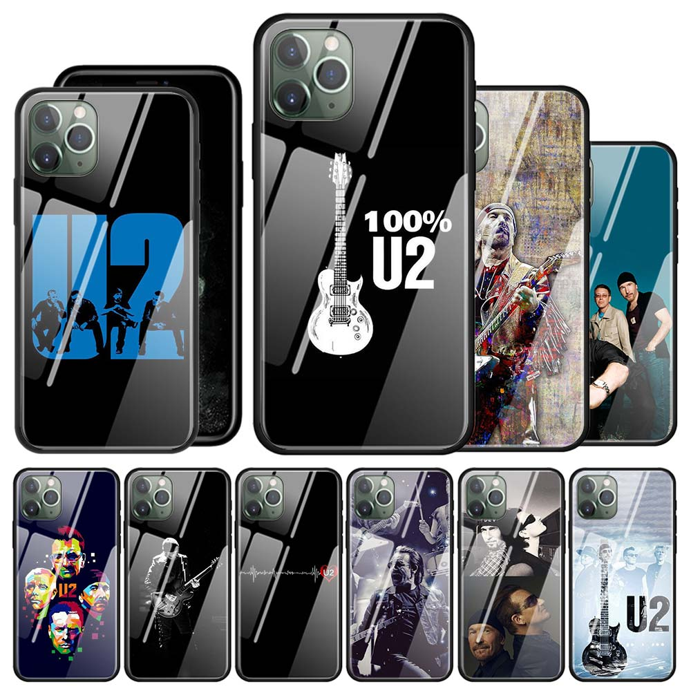 Tempered Glass Phone Case For iPhone 11 Pro Max XR XS Max X 7 8 6 6S Plus 7+ 8+ 6+ 6S+ Cover Couqe U2 Bono The Edge image
