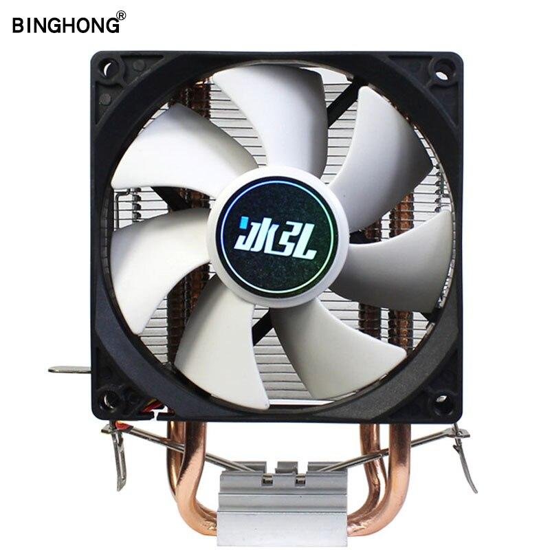 BINGHONG 3PIN RGB 90mm Am3 CPU Radiator Cooler For 775 1151 1366 2011 AM2+ AM2