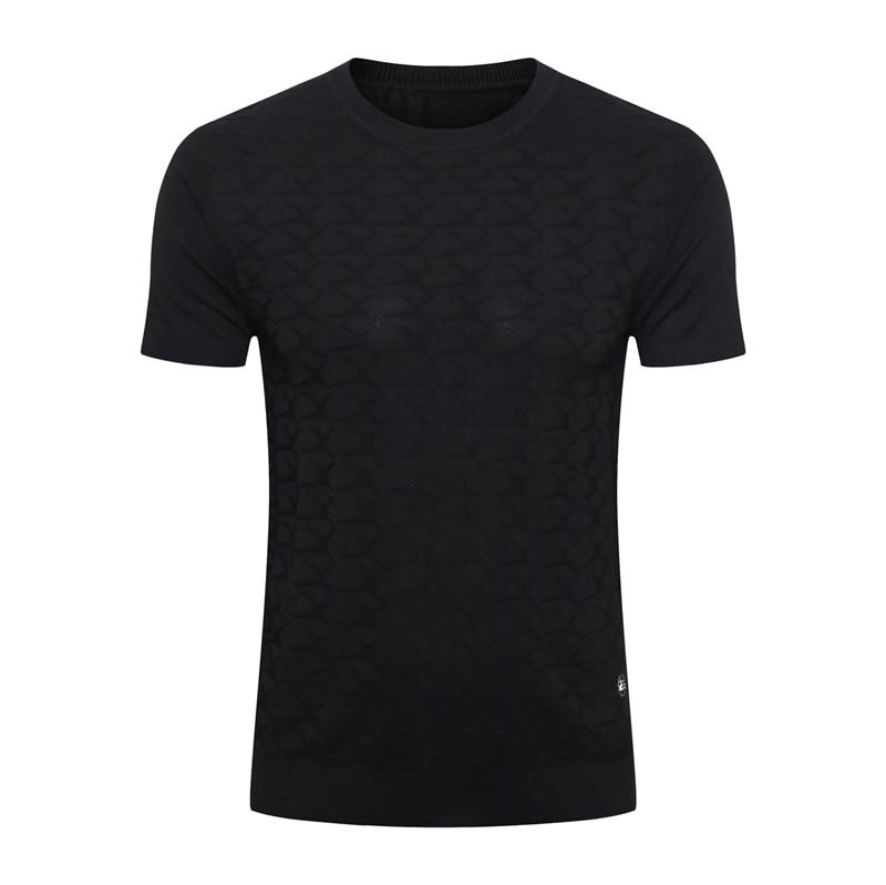 BILLIONAIRE, Мужская шелковая футболка, лето 2020, новинка, тонкая, коммерция, модная, повседневная, с геометрическим узором, высокое качество, для фитнеса, бесплатная доставка - 4