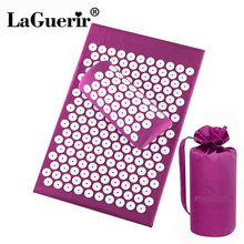 Lotus-Spike Pillow Massage-Mat Pain-Relief with Relieve-Back Stress-Body 62--39cm