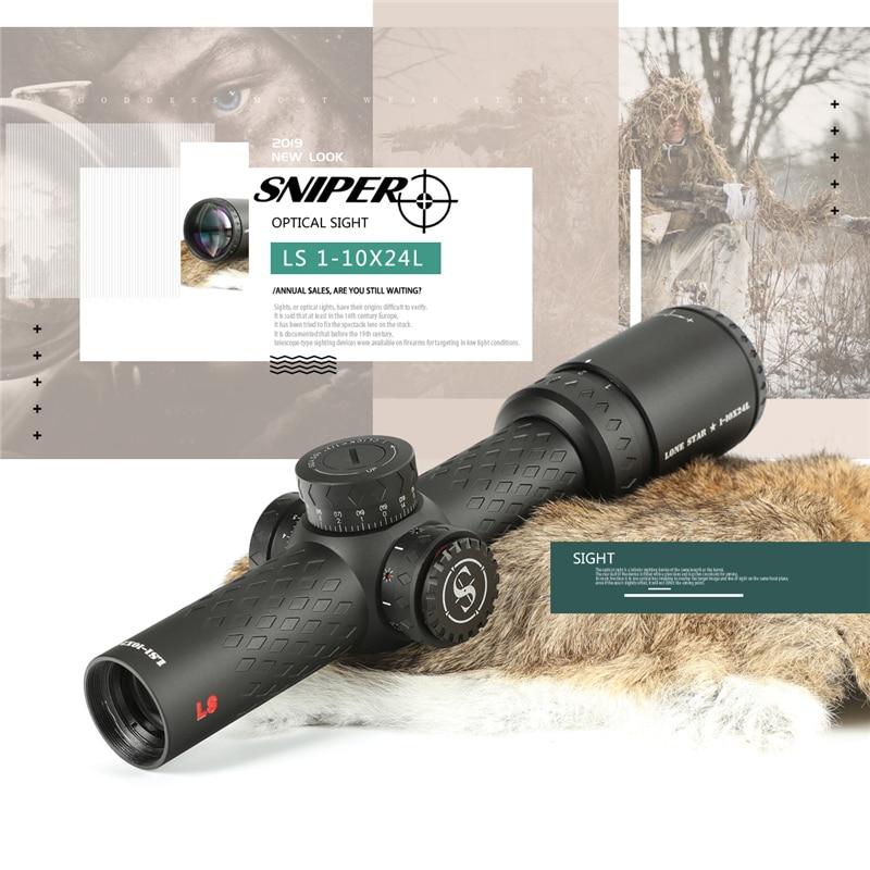 SNIPER LN 1-10x24 L lunette de visée tactique portée de fusil verre gravé réticule chasse optique vue point rouge 20mm monte portée de chasse