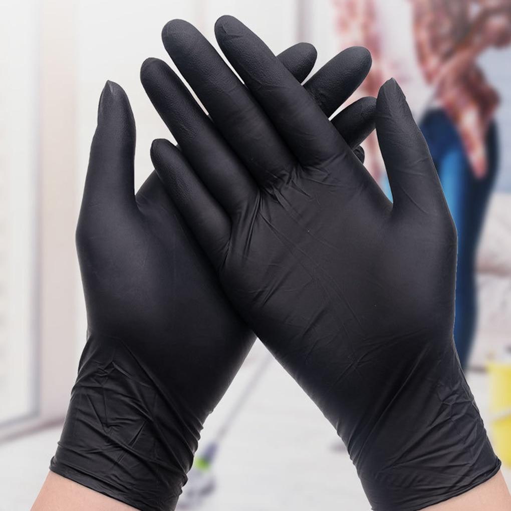 Черные одноразовые перчатки без порошка, без латекса, 20 шт.